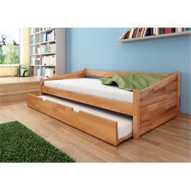 Madros postel Tonny jednolůžko s přistýlkou masiv buk